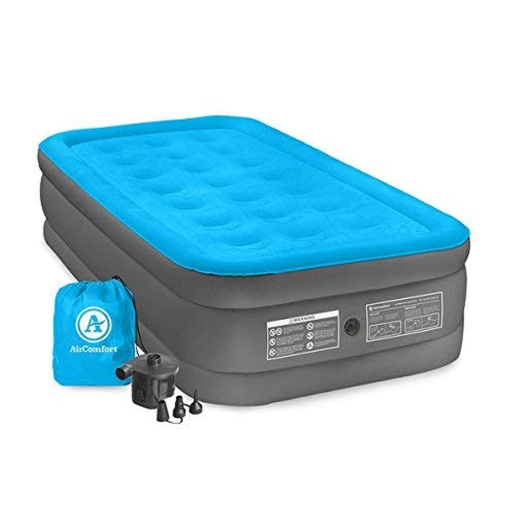とまり木不安定なブレーク[Air Comfort ] [Air Comfort ツインサイズのエアマットレス Blue Twin-size Raised Air Mattress, Made of Durable Polyvinyl Chloride | Deflates Quickly For Quick and Easy Storage] (並行輸入品)