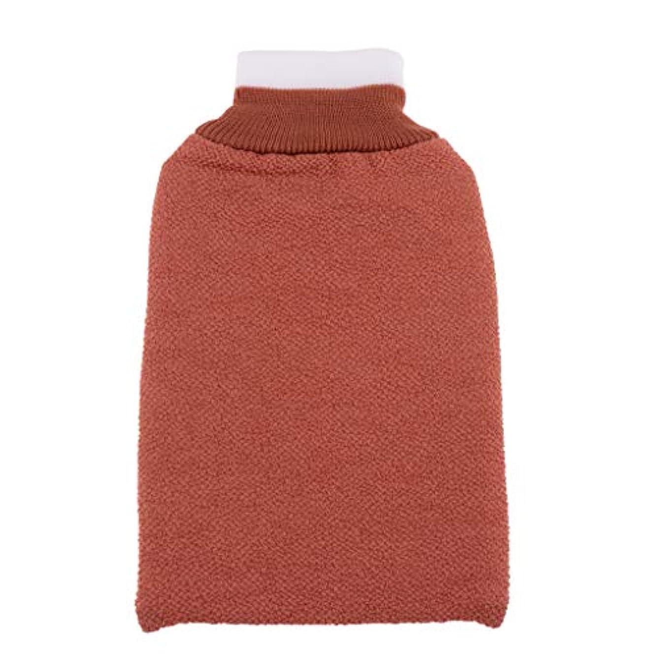 FLAMEER お風呂タオル手袋 浴用手袋 垢すりグローブ 角質除去 毛穴清潔 バス用品 男女兼用 再利用可 全3色 - シャンパン