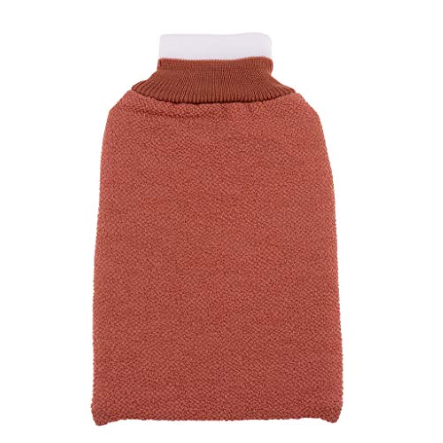 甘くするおばさんアッティカスFLAMEER お風呂タオル手袋 浴用手袋 垢すりグローブ 角質除去 毛穴清潔 バス用品 男女兼用 再利用可 全3色 - シャンパン