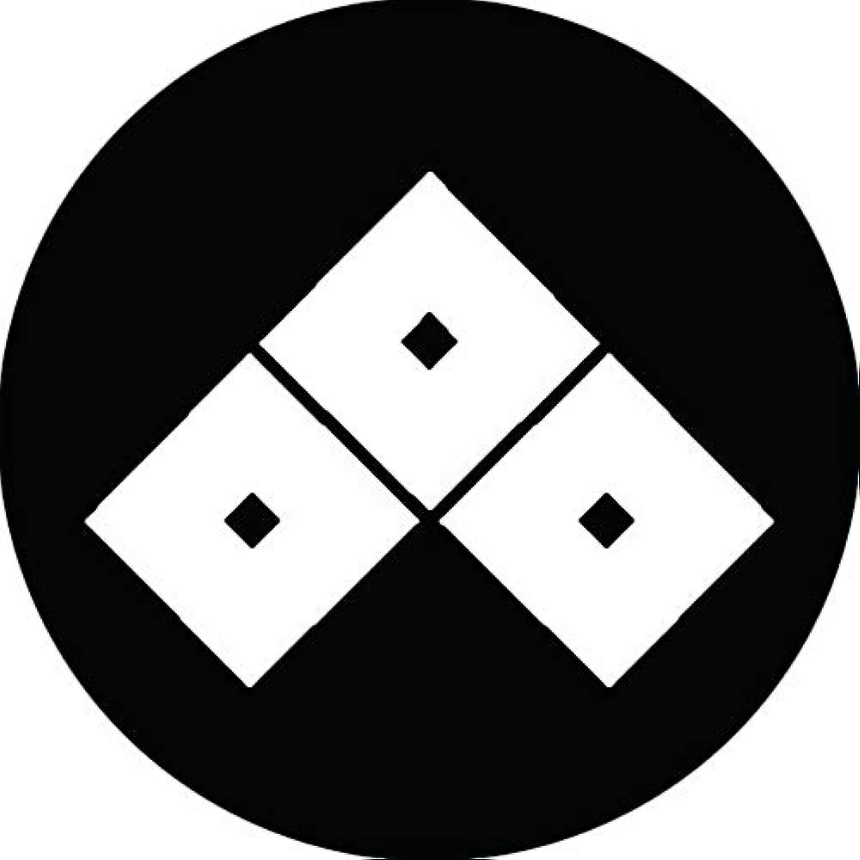 家紋シール 三つ目菱紋 布タイプ 直径40mm 6枚セット NS4-1557