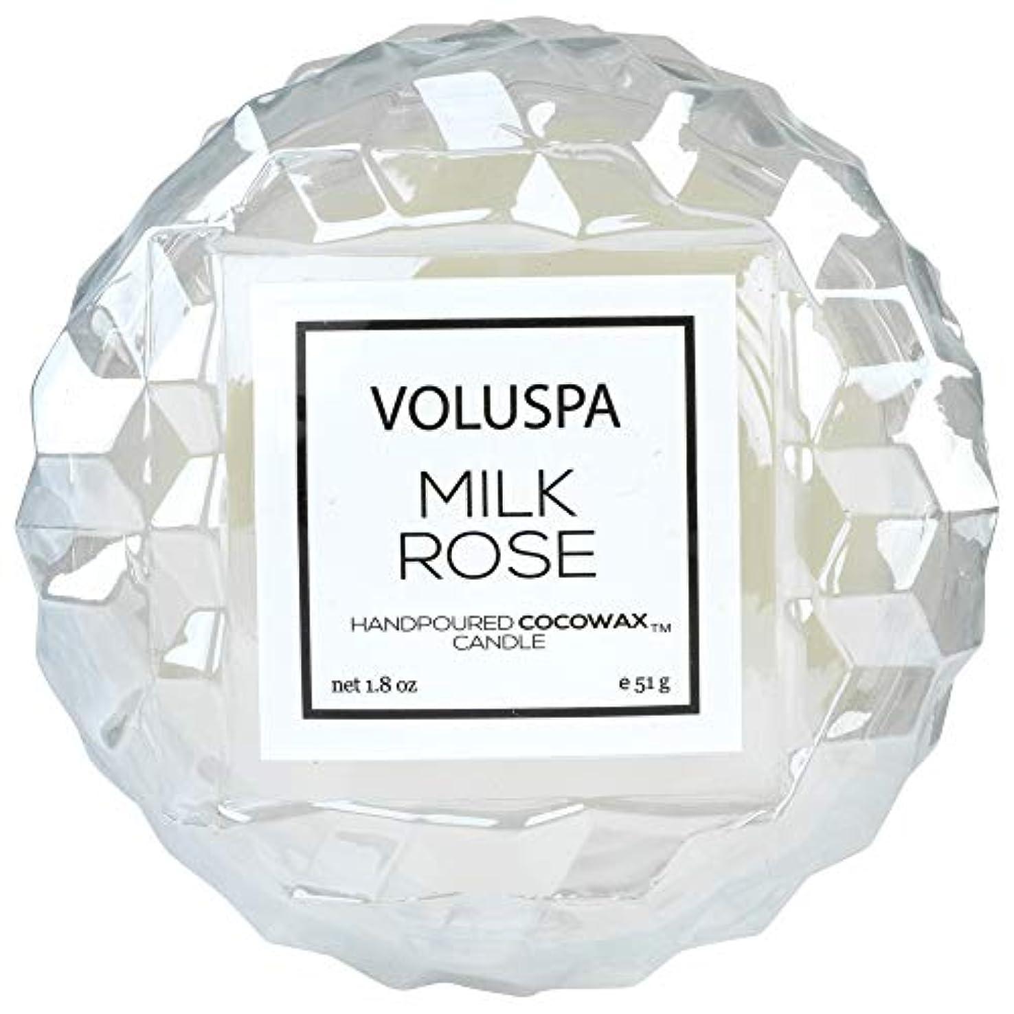 反応するきらめく息を切らしてVOLUSPA ローズマカロンキャンドル ミルクローズ 51g ボルスパ