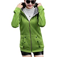 fanmeili-AU Women Hoodies Faux Fur Lined Winter Warm Thick Zip Cardigan Sweaters Jackets