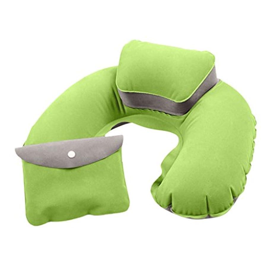難しい魚眩惑するMagiDeal旅行平面インフレータブルUシェイプ枕快適なネックヘッドRestエアソフトクッション
