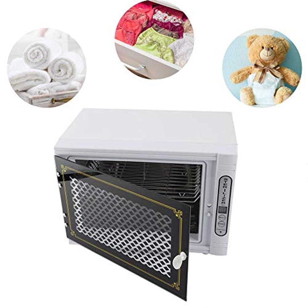 フロー前大声でタオル消毒キャビネット、衣類用スパおよびサロン機器用のプロフェッショナルステンレススチール加温殺菌UV滅菌器(白い)
