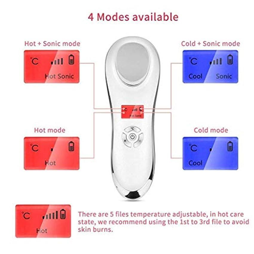 フェイシャルマッサージ - 電動ハンドヘルド美容機器、6-in-one美容ツール、引き締め/保湿/美白/吸収/リラックス/マッサージ、顔に最適、目、首 - ユニセックス
