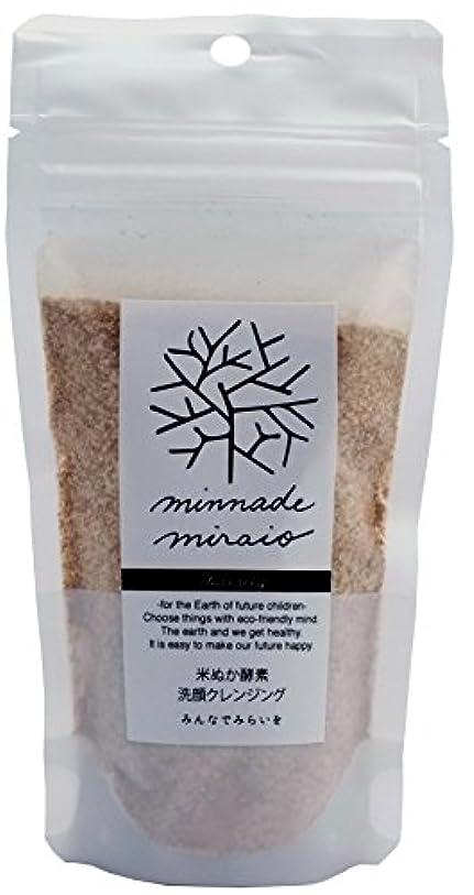 鷲エミュレートするウェーハみんなでみらいを 米ぬか酵素洗顔クレンジング(詰替用) 85g