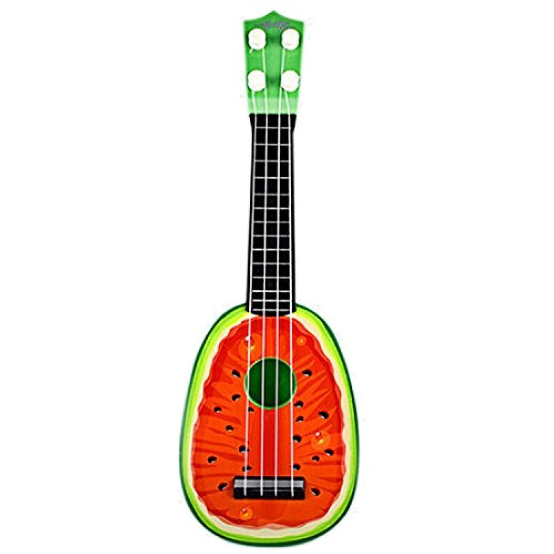 Funny Mini Fruitスタイル子供用ギターウクレレおもちゃ再生できる子供教育学習楽器おもちゃ