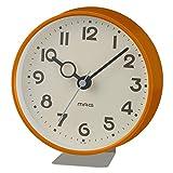 MAG(マグ) 置き時計 アナログ フックプット 直径約12.7cm 連続秒針 置き掛け兼用 オレンジ W-752OR-Z