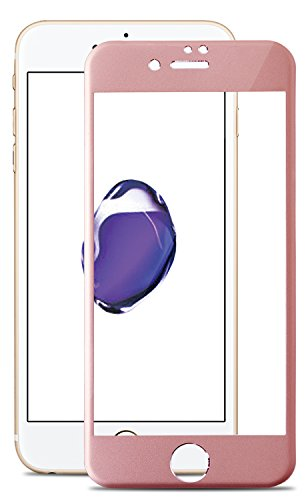 【30days プレミアム保障】 薄型 アルミフレーム 全面 フルカバー iPhone7 専用 強化ガラスフィルム 日本製 旭硝子 極薄 0.33mm 3dタッチ 硬度9H ラウンドエッジ加工 クリア 保護フィルム 保護シート ガラスフィルム 国産 アイフォン7 v003 16AC9-7-PNKz