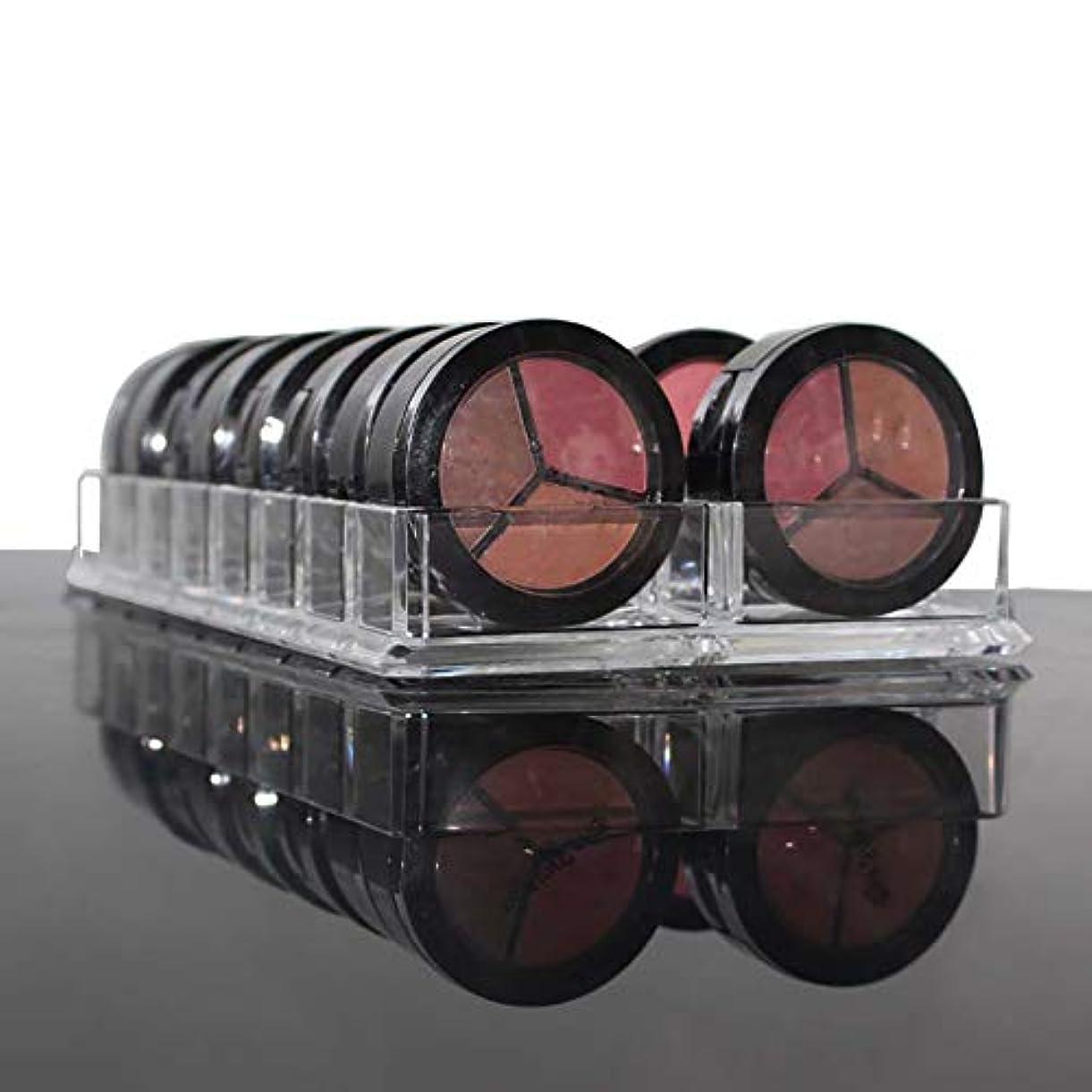 孤児伝染性のパフhamulekfae-化粧品綺麗アクリルアイシャドー頬紅化粧オーガナイザー16スペース化粧品収納ケースホルダー - 透明