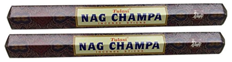 和らげる不良品発表TULASI サラチ STICKS お香 40本入り NAG CHAMPA ナグチャンパ 025001-2
