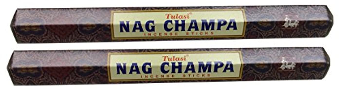 六終了する一貫したTULASI サラチ STICKS お香 40本入り NAG CHAMPA ナグチャンパ 025001-2