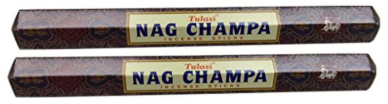 受信煙突保証するTULASI サラチ STICKS お香 40本入り NAG CHAMPA ナグチャンパ 025001-2