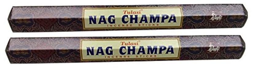 持っている長々と行うTULASI サラチ STICKS お香 40本入り NAG CHAMPA ナグチャンパ 025001-2
