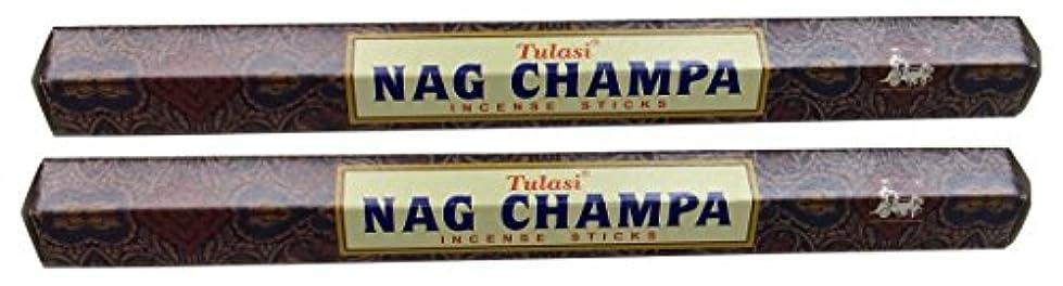 驚くべき優先伝えるTULASI サラチ STICKS お香 40本入り NAG CHAMPA ナグチャンパ 025001-2