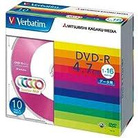 (まとめ)バーベイタム データ用DVD-R4.7GB 1-16倍速 5色カラーMIX 5mmスリムケース DHR47JM10V11パック(10枚:各色2枚) 【×5セット】