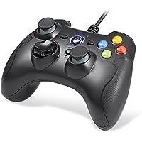 【ゲームコントローラー】EasySMX 有線PCコントローラー 連射・振動機能搭載 USBゲームパッド Windows/Android/ PS3/ TV Boxに対応可能 (ブラック)