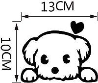 おかしいかわいい黒犬のスイッチステッカー動物のホームインテリアウォールステッカーホームデコレーションリビングルームホームステッカーのベッドルームキッズルーム、ブラック、10x13cm