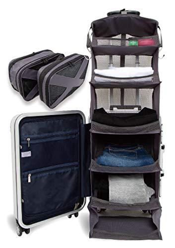 Travel Goody スーツケースクローゼット&圧縮袋 旅行先のホテルに自宅のクローゼットを持って行けるような旅行用便利グッズ パッキングオーガナイザー コンプレッションバッグ