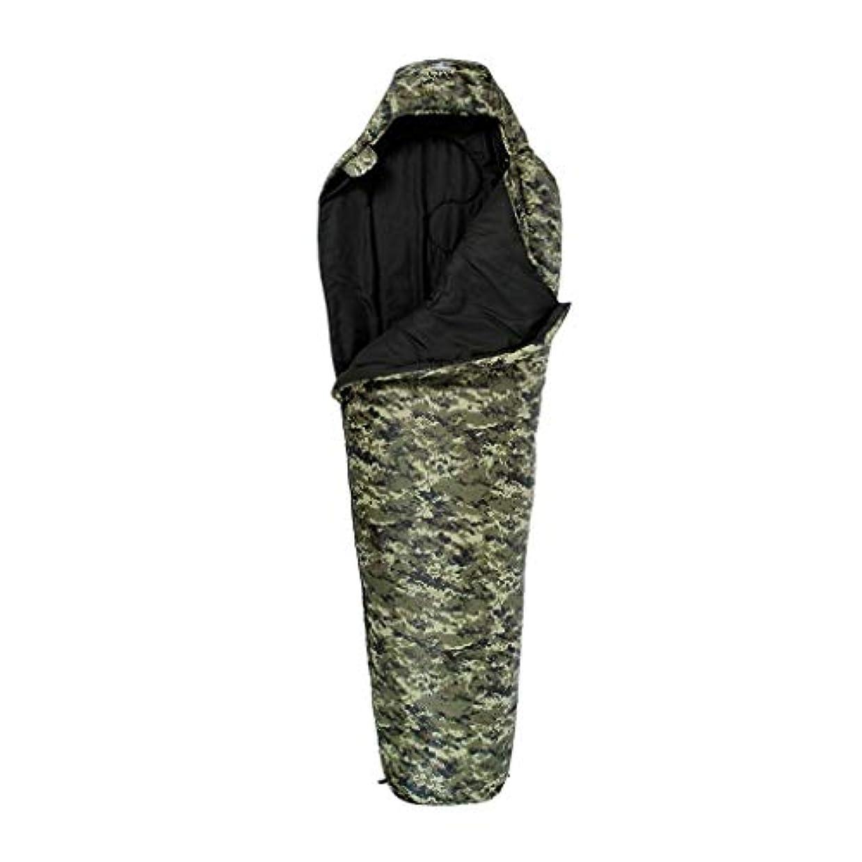 両方を通して大使迷彩ミイラキャンプ寝袋軽量暖かく快適な3-4シーズン睡眠マット大人の旅行のハイキング屋内野外活動 (色 : B, サイズ さいず : 1.3kg)