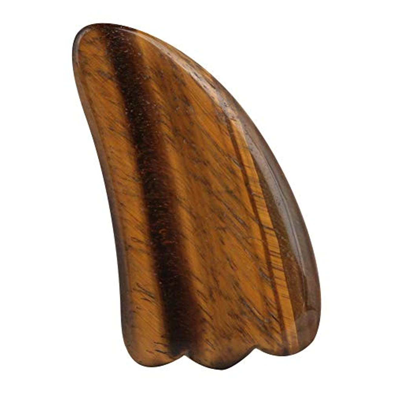 食用立派な衛星Gua Sha Board for Pain Relief、Natural Tigerite Scraping Plate Board Jade Massager Body Massage Plate Scraping...