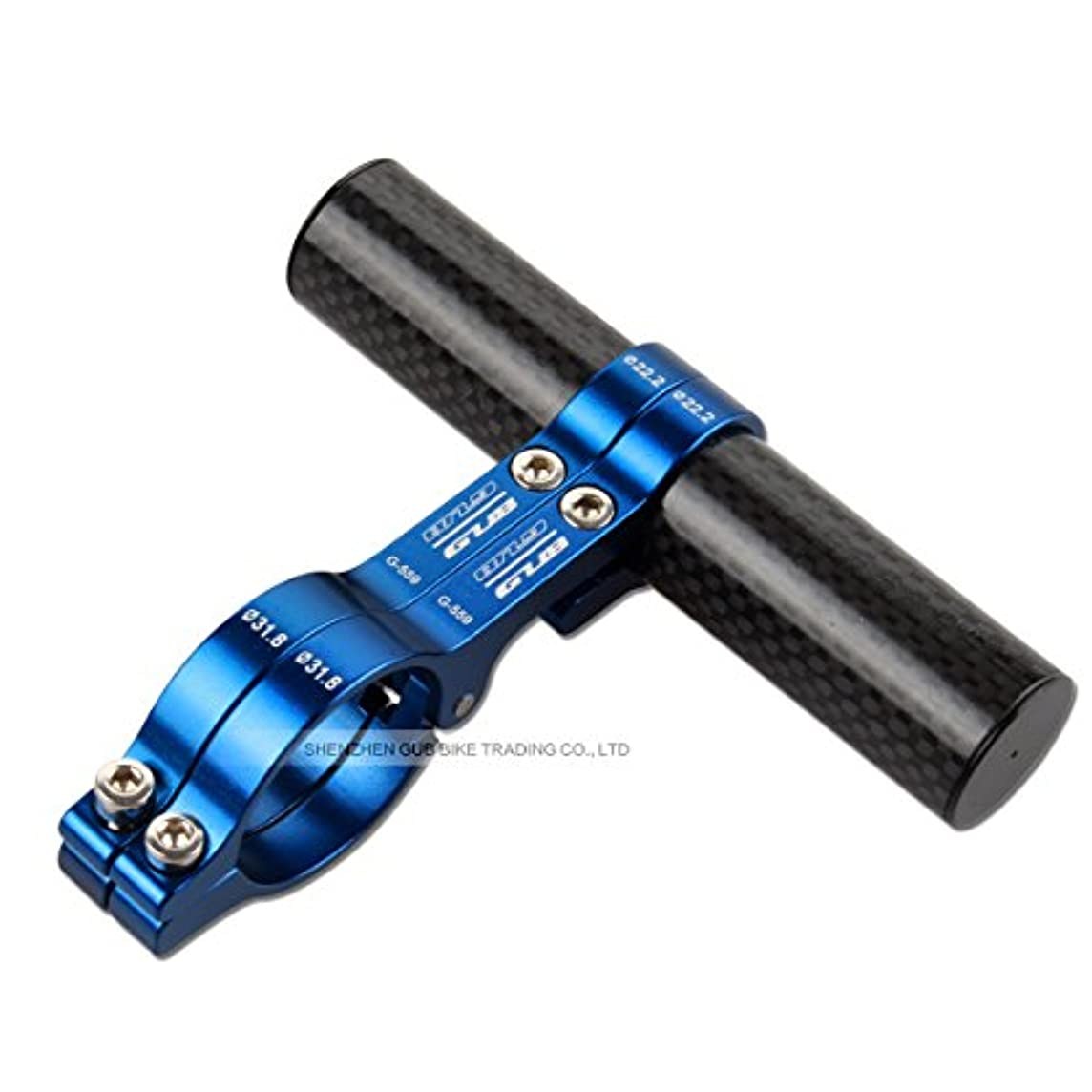 に対処する建築累積Gub 559 Carbon Fiber Bike Handlebar Extender For Headlight Flashlight Lamp Computer Holder Mount