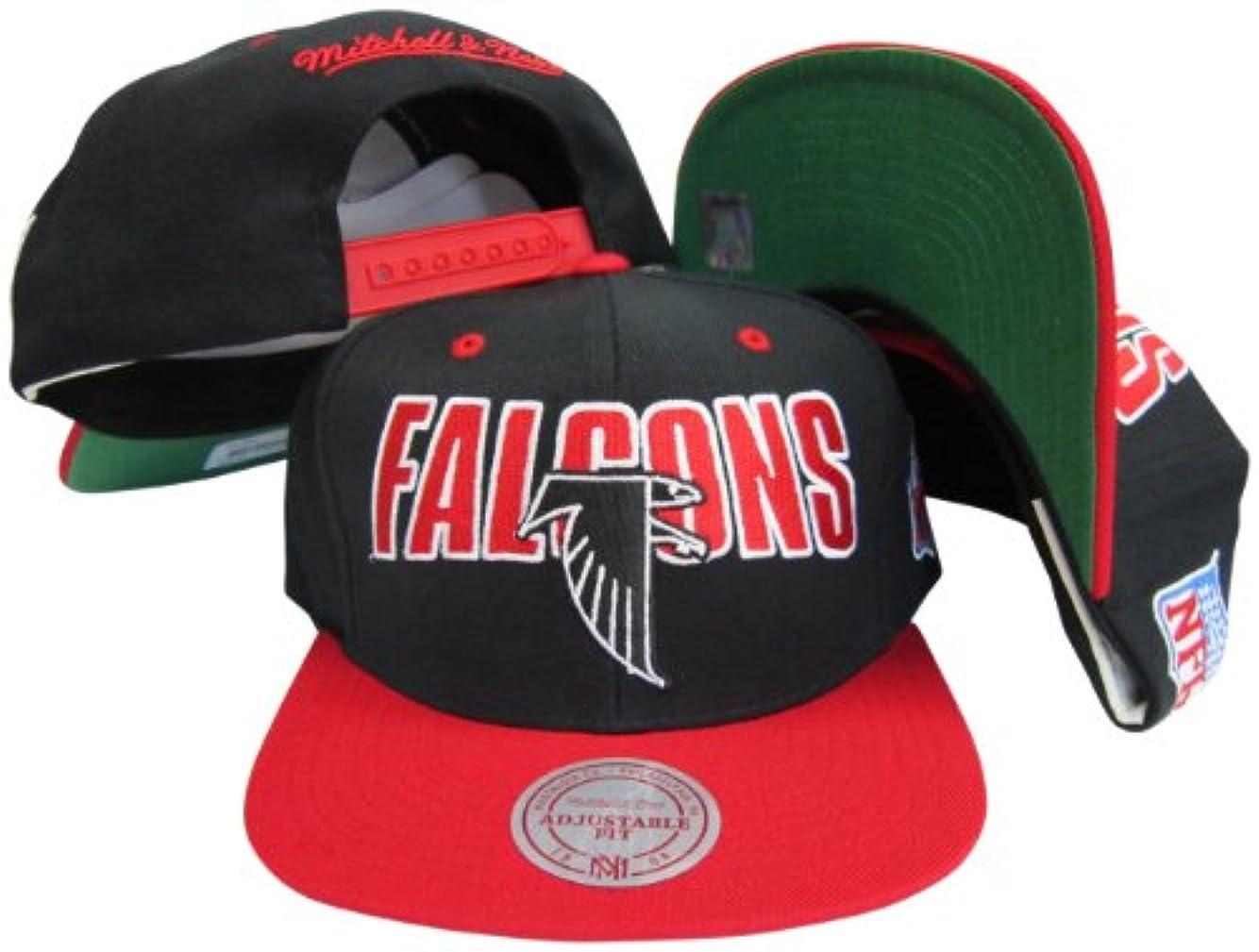 衝突する子供時代ばかげたAtlanta Falconsブラック/レッド2つトーンプラスチックスナップバック調節可能なプラスチックスナップバック帽子/キャップ