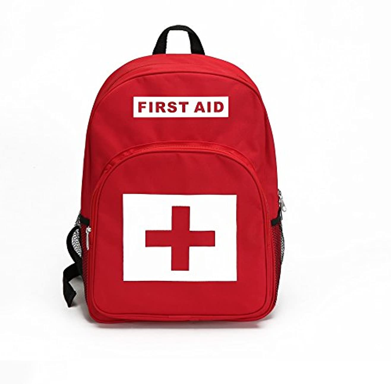 無視拍手召喚するファーストエイドキットの赤いバックパックは、緊急治療やハイキング、バックパック、キャンプ、旅行、車、サイクリングをパックします。すべてのアウトドアアドベンチャーに最適または家庭&職場で準備する (赤 B, M)