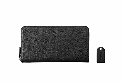 GRAMAS Singlezip Organizer Wallet MAMORIO inside (Black×Black)