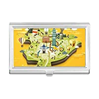 台北旅行マップ 中国 名刺ホルダー ケース 財布