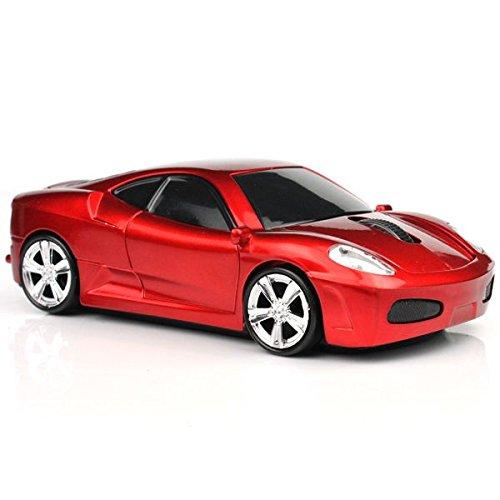 2.4GHz 車型ワイヤレスマウス 赤 バルク