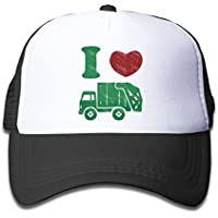 Waldeal Children's I Love Trash Garbage Trucks hat Truck Hat Mesh Cap