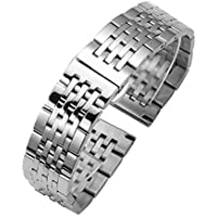 Quick Release Watch Strap 19mm Premium Solid Stainless Steel Watch Band Watch Bracelets Metal Replacement Strap Silver 1PC