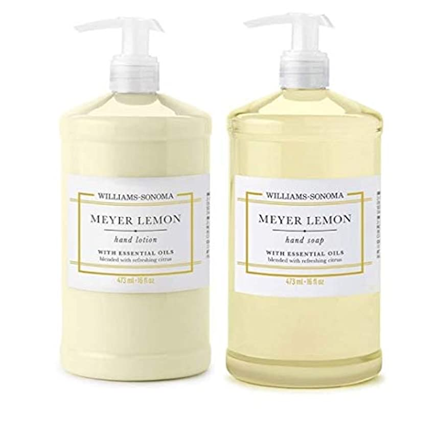 魚喜ぶ所有者Williams Sonoma Meyer Lemon Hand Soap and Hand Lotion 16 oz each [並行輸入品]