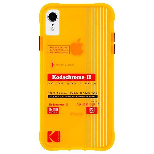 【Kodak x Case-Mate】 コダック ブランド コラボ スマホケース iPhone XR ケース ハード ケース カバー [耐衝撃・ワイヤレス充電対応・ハイブリッド・スリム] コダック・イエロー レトロデザイン Vintage Kodachrome II Print
