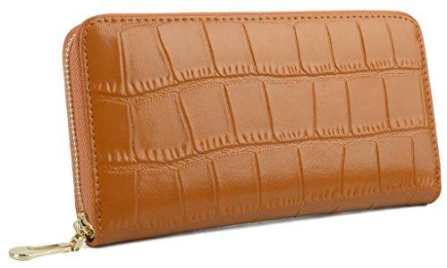 [해외][야랏쿠스] Yaluxe 여성 가죽 소 가죽 통근 비즈니스 카드 수납 대용량 라운드 지퍼 지갑/[YARAX] Yaluxe Women`s leather cowhide commuter business card storage large capacity round fastener long wallet