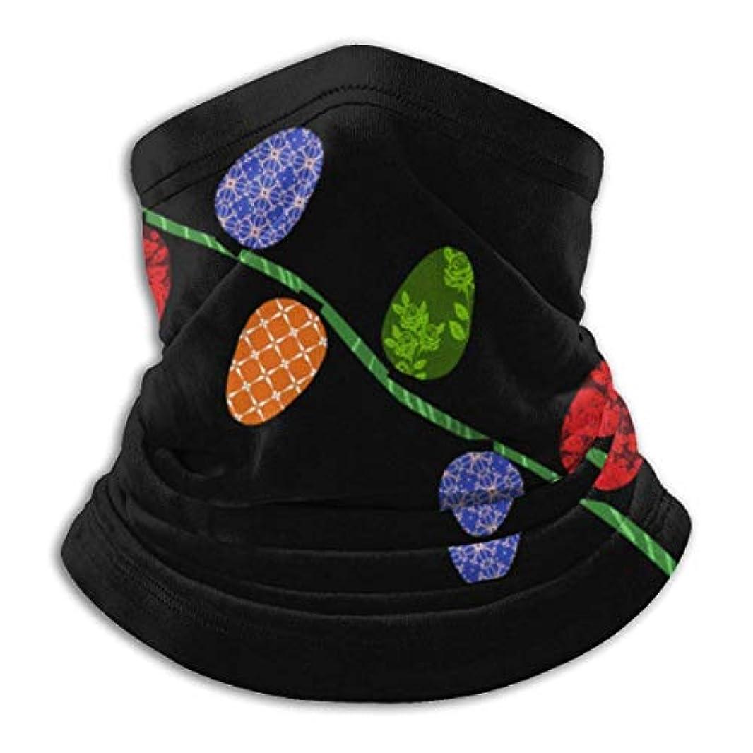下品改革のためにクリスマスライト ネック暖かいスカーフ サーマルネックスカーフ マイクロファイバーネックウォーマー ネックウォーマー マフラー 帽子 ヘッドバンド 秋冬 防寒 防風 キャップ 多機能 ネック ゲーター 男女兼用