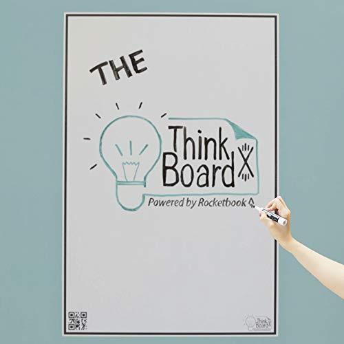 Think Board X スマートホワイトボードフィルム - Rocketbookによる電源供給 - 剥がして貼るホワイトボードフィルム 壁、机、オフィス、教室用ホワイトボードフィルム Large (24