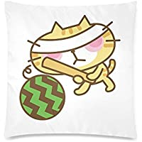 可愛い 子供 すいか割りする猫 座布団 45cm×45cm可愛い 子供 すいか割りする猫 座布団 45cm×45cm