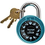 Combination Lock with Pictures, ImageLOCK – Patented Non-Resettable Combination Lock with Administrative Key, Pictures Instead of Numbers, High Security, Double-Reinforced Stainless Steel Lock, Baby B