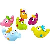 Konfetti Seahorse Bath Squirters, 6 Count [並行輸入品]