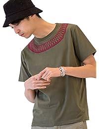 (コーエン) COEN カットソー tシャツ 半袖 サガラ刺繍クルーネックTシャツ 75256008042 メンズ