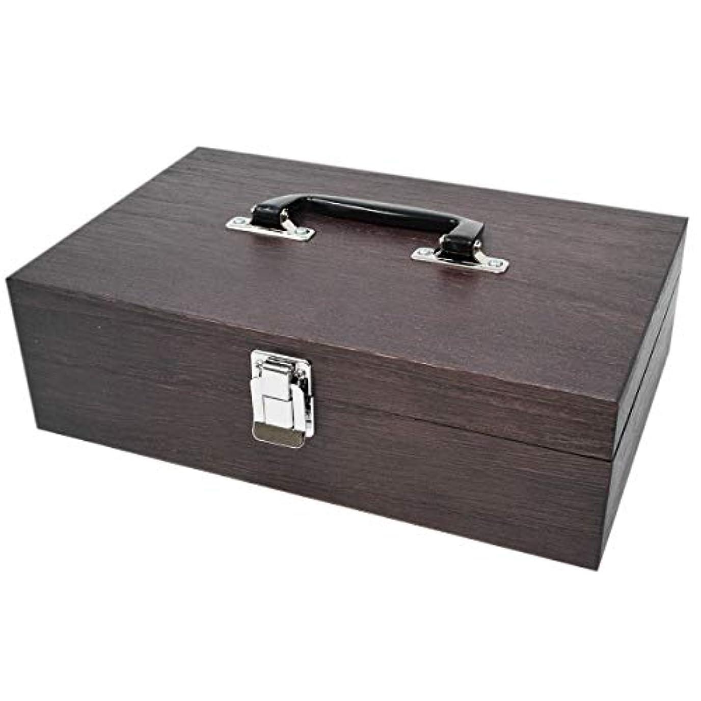 火山歌手ビットケンソー オイルボックス 40本収納 (特大)ナトー材製 ※取っ手付 (健草医学舎 オイルボックス)