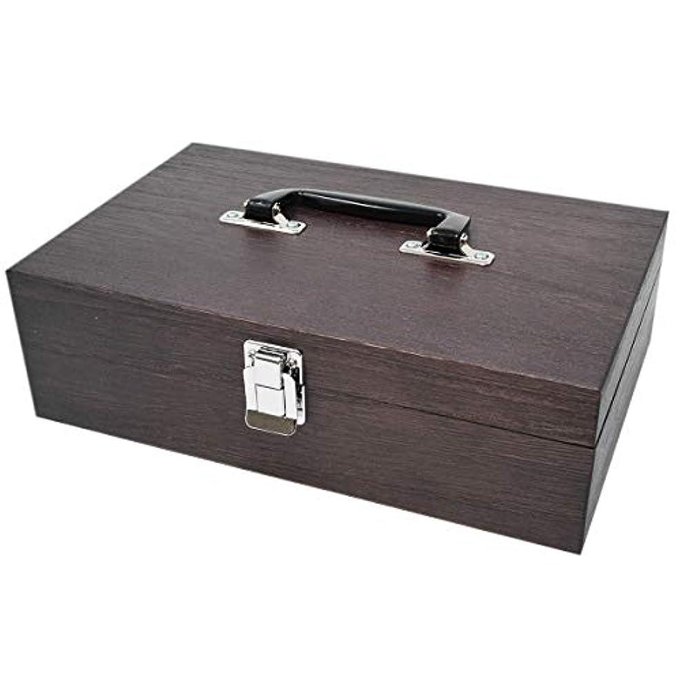 ケンソー オイルボックス 40本収納 (特大)ナトー材製 ※取っ手付 (健草医学舎 オイルボックス)
