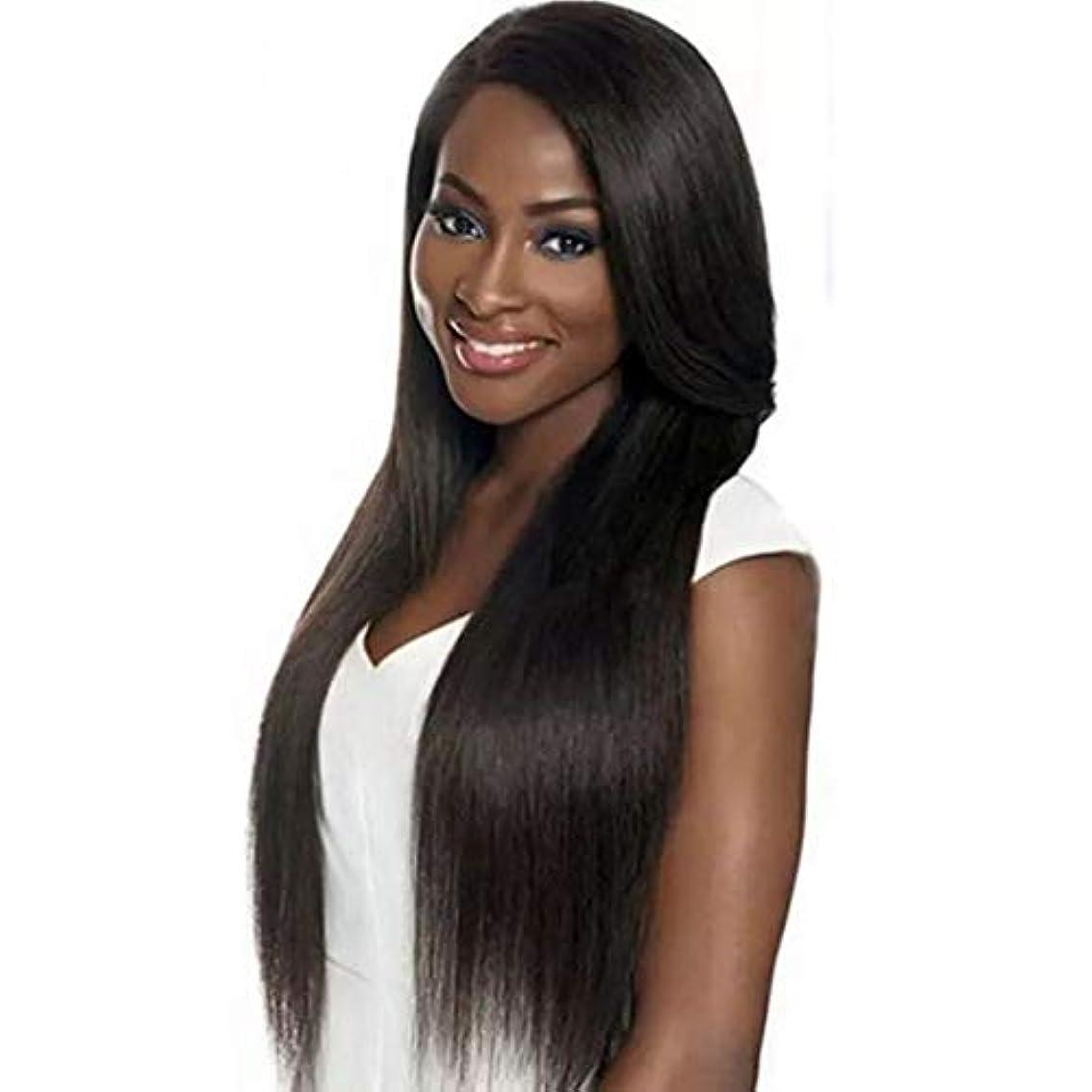 に対処する散髪虫を数えるKerwinner ウィッグレディースロングストレートストレートヘア弾性ストラップ付き快適&調節可能 (Color : Navy Brown)