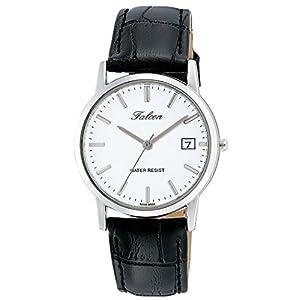 [シチズン キューアンドキュー]CITIZEN Q&Q 腕時計 Falcon ファルコン アナログ 革ベルト 日付 表示 ホワイト D018-301 メンズ