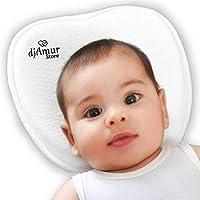 クッション防止ケアフラットヘッド新生児斜頭症フラットヘッドケア防止メモリーフォームヘッドレストBebe Nanna Birth白い色