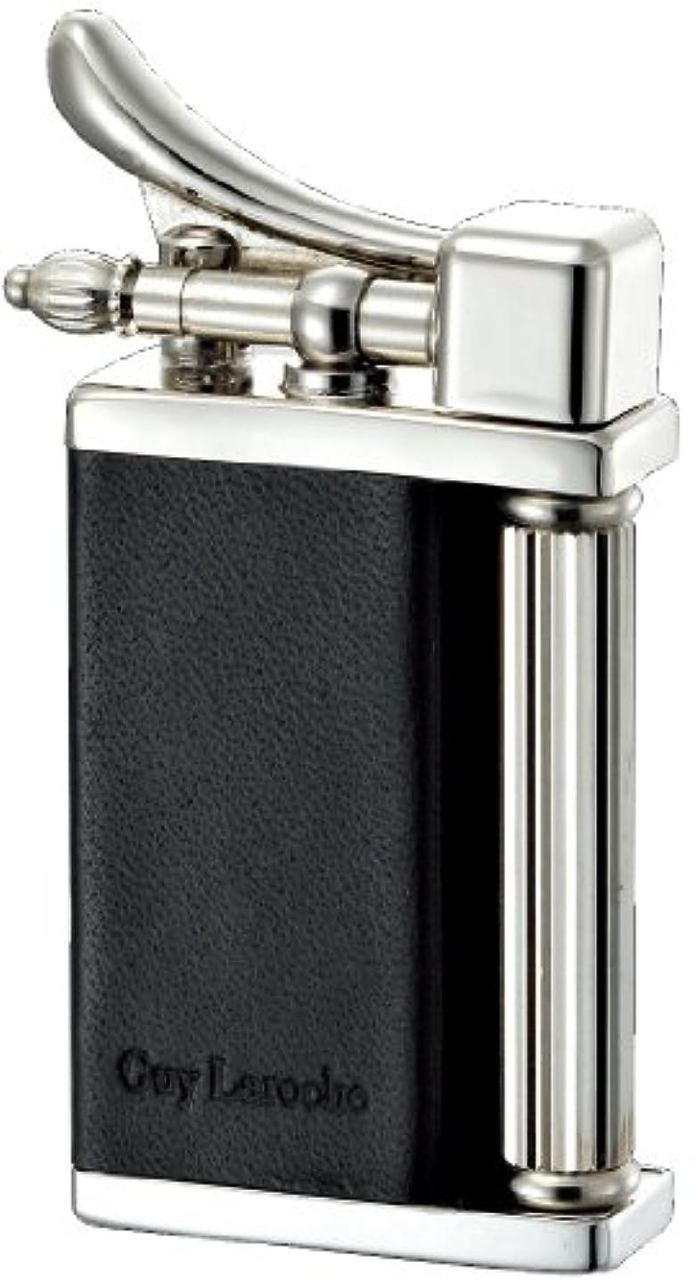 慰め巻き取り医薬Guy Laroche フリントガスライター ギ?ラロッシュGL-1900 日本製 革巻きブラック GL19-1901