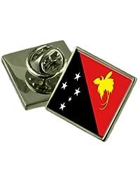 パプアニューギニアラペルピンバッジを刻まれた個人化されたボックス
