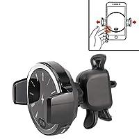 時計パターン車の携帯電話ワイヤレス充電器ホルダー ハイクオリティ (色 : Silver)